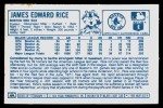 1978 Kellogg's #49  Jim Rice  Back Thumbnail