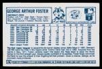 1978 Kellogg's #10  George Foster  Back Thumbnail