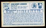 1979 Kellogg's #6  John Henry Johnson  Back Thumbnail