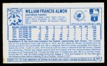1979 Kellogg's #53  Bill Almon  Back Thumbnail
