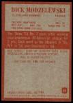 1965 Philadelphia #36  Dick Modzelewski  Back Thumbnail