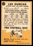 1967 Topps #131  Speedy Duncan  Back Thumbnail