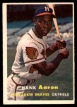 1957 Topps #20  Hank Aaron  Front Thumbnail