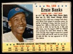 1963 Post Cereal #169  Ernie Banks  Front Thumbnail