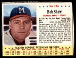 1963 Jello #154  Bob Shaw  Front Thumbnail