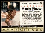 1961 Post Cereal #25 BOX Minnie Minoso   Front Thumbnail