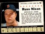 1961 Post Cereal #52 BOX Russ Nixon   Front Thumbnail