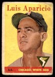 1958 Topps #85 YT Luis Aparicio  Front Thumbnail