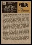 1971 Topps #81  Rich Jackson  Back Thumbnail