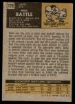 1971 Topps #179  Mike Battle  Back Thumbnail
