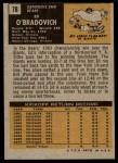 1971 Topps #78  Ed O'Bradovich  Back Thumbnail