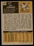 1971 Topps #134  Jerry Logan  Back Thumbnail