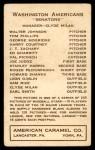 1922 E120 American Caramel  Joe Judge  Back Thumbnail