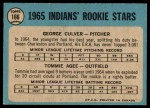 1965 O-Pee-Chee #166  Tommie Agee  Back Thumbnail