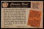1955 Bowman #278  Charlie Neal  Back Thumbnail