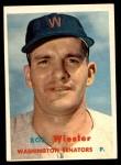 1957 Topps #126  Bob Wiesler  Front Thumbnail