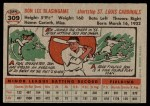 1956 Topps #309  Don Blasingame  Back Thumbnail