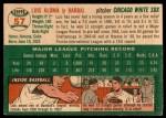 1954 Topps #57  Luis Aloma  Back Thumbnail