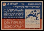 1957 Topps #32  Nick Mickoski  Back Thumbnail