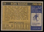 1971 Topps #178  Ron Boone  Back Thumbnail