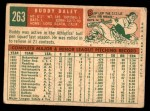 1959 Topps #263  Bud Daley  Back Thumbnail