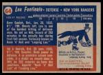 1957 Topps #64  Lou Fontinato  Back Thumbnail