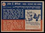 1957 Topps #47  Johnny Wilson  Back Thumbnail