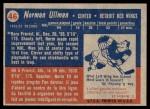 1957 Topps #46  Norm Ullman  Back Thumbnail