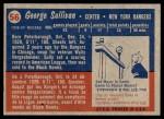 1957 Topps #56  George Sullivan  Back Thumbnail