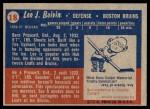 1957 Topps #18  Leo Boivin  Back Thumbnail
