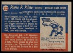 1957 Topps #22  Pierre Pilote  Back Thumbnail