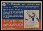 1957 Topps #24  Eric Nesterenko  Back Thumbnail