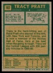1971 Topps #107  Tracy Pratt  Back Thumbnail