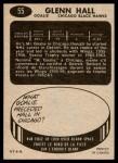 1965 Topps #55  Glenn Hall  Back Thumbnail