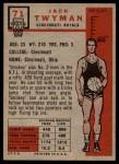 1957 Topps #71  Jack Twyman  Back Thumbnail