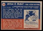 1957 Topps #44  Bill McNeil  Back Thumbnail