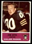 1962 Fleer #72  Jim Otto  Front Thumbnail