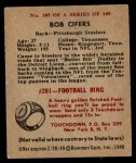 1948 Bowman #105  Bob Cifers  Back Thumbnail