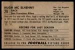 1952 Bowman Large #29  Hugh McElhenny  Back Thumbnail