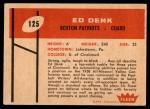 1960 Fleer #125  Ed Denk  Back Thumbnail