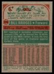 1973 Topps #174  Bill Bridges  Back Thumbnail