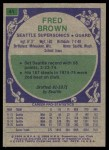 1975 Topps #41  Fred Brown  Back Thumbnail