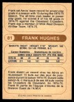 1976 O-Pee-Chee WHA #81  Frank Hughes  Back Thumbnail