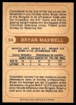 1976 O-Pee-Chee WHA #54  Bryan Maxwell  Back Thumbnail