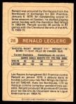1976 O-Pee-Chee WHA #28  Renald Leclerc  Back Thumbnail