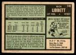 1971 O-Pee-Chee #140  Nick Libett  Back Thumbnail