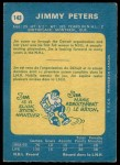 1969 O-Pee-Chee #143  Jimmy Peters  Back Thumbnail