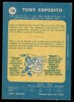 1969 O-Pee-Chee #138  Tony Esposito  Back Thumbnail