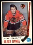 1969 O-Pee-Chee #138  Tony Esposito  Front Thumbnail