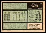 1971 O-Pee-Chee #170  Dallas Smith  Back Thumbnail